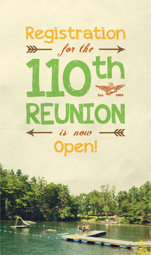 Registration for the 110th reunion is now open!